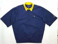POLO Golf RALPH Lauren WINDBREAKER Pullover NAVY Yellow MEDIUM Mens SIZE Sz MAN*