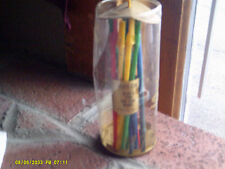Lot 10 Art Anson Drink Stirrers Flute-stir plastic assorted colors NEW (*)