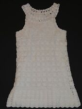 NWOT BABY GAP TODDLER GIRLS WHITE CROCHETED DRESS 4T 4 YEARS