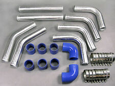 NEW 2.5 INCH 63MM PIPING + SILICONE HOSE KIT FOR TURBO INTERCOOLER + AIR INTAKE