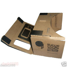 DIY Cardboard 3D Virtual Reality Phone Video Glasses For iPhone Google Samsung