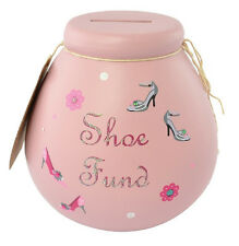Shoes Fund Money Pot Box Jar Piggy Bank Christmas Birthday Gift POT OF DREAMS