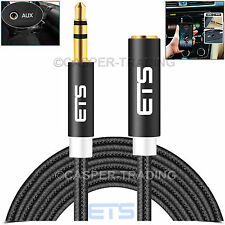 ® ETS 2m 3.5mm Jack Maschio a Femmina Aux Audio Prolunga Cavo iPad mp3 speakerlead