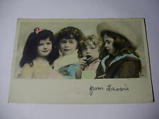 K244 - 1905 Beautiful YOUNG GIRLS Eating Biscuit POSTCARD Stamp RP