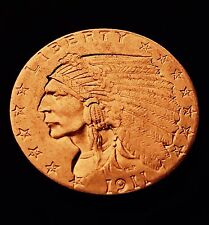 1911 Beautiful $2.5 Gold Quarter Eagle Indian Head