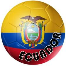 decal sticker worldcup car bumper flag team soccer ball foot football ecuador