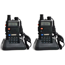 2 PCS UV-5R VHF&UHF BaoFeng  Dual-Band DTMF CTCSS FM ham 2 way 5R radio From RU