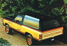 1981 Dodge RAMCHARGER Brochure w/ Color Chart: AD150,AW150,4WD,Big Horn,RAM,