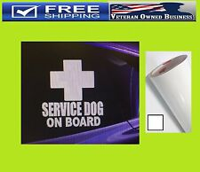 SERVICE DOG ON BOARD ADA VINYL DECAL STICKER WINDOW BUMPER Pet Therapy Training