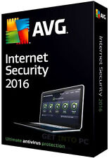 AVG Internet Security 2016 - 3 Users 1 Year License Key Download Code Protection