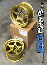 Lenso VPD Gold Drag Autocross Race Wheels 13x7.5 4x100 Civic Integra Miata Rims