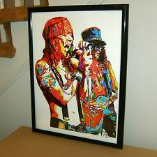 Axl Rose, Slash, Guns N' Roses, Singer, Guitar Player, Rock, 18x24 POSTER w/COA
