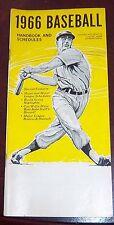 Baseball handbook and schedules 1966 Roberto Clemente Willie Mays Sandy Koufax
