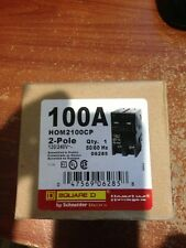 NIB HOM2100CP SQUARE D BY SCHNEIDER ELECTRIC HOMELINE 100A MAIN CIRCUIT BREAKERS