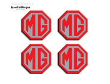MG TF MGF ZS ZT ZR Alloy Wheel Centre Caps Logo Badges Red Silver 45mm Set