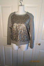 Vince Sweat Shirt, XSmall, Sequined front, long sleeves, cotton,