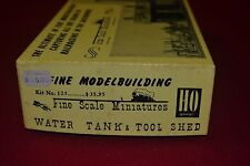 Fine Scale Miniatures FSM Water Tank and Tool Shed #125 1:87 Scale NOS