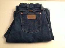 VTG. 1970'S WRANGLER BLUE JEANS MEN'S SIZE 34W 38L VERY LONG RARE LENGTH DENIM