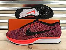 Nike Flyknit Racer Running Shoes Hyper Orange Vivid Purple SZ 9.5 ( 526628-008 )
