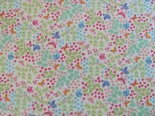BIRDS IN BUSH BUTTERFLIES LEAVES Makower UK on COTTON FABRIC Priced By The Yard