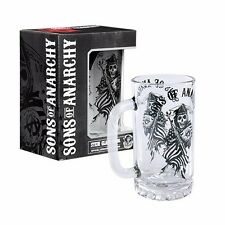 99868 SONS OF ANARCHY SOA BLACK REAPER GLASS STEIN 500ML BEER MUG DRINK