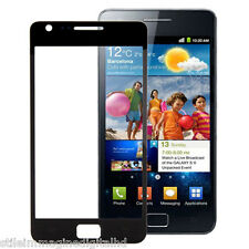 VETRO ANTERIORE FRONTALE GLASS TOUCH SCREEN DISPLAY SCHERMO SAMSUNG S 2 II NERO
