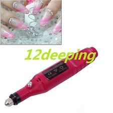 Polish Pen Shape Electric Nail Drill Machine Art Salon Manicure File Tool DE