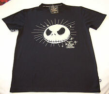 The Nightmare Before Christmas Mens Black Glow In Dark T Shirt Size S New