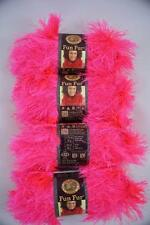 4 Skeins Lion Brand FUN FUR EYELASH Yarn FLAMINGO #102, HOT PINK Craft Yarn, NEW