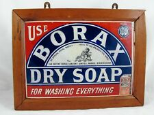 BORAX ENAMEL ADVERTISING SIGN C1930'S WITH LATER FRAME