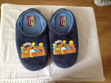 Marks & Spencer The Simpsons Boy's Navy Wide Slippers 100% Cotton Size 8/9 UK