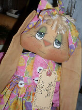 "Primitive 21"" Bunny w/10"" baby Hayden & Iggy Mailed Pattern #126"
