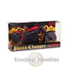 Pizza Chopper Motorbike Pizza Cutter Slice Fun Bike Gift Biker Wheels Easy Cut