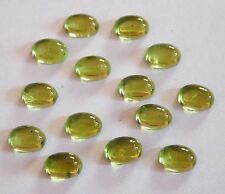 11.30 Cts 11 Pcs Natural Peridot Oval Cab Lot Loose Gemstone Size 5 X 7 MM C1212