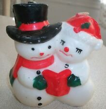 MR. & MRS. SNOWMAN - CHRISTMAS CAROLING SNOWMEN WAX  CANDLE - NEW (Never Burned)