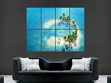 MALDIVES PARADISE ISLAND SAND BEACH ART WALL POSTER PICTURE PRINT LARGE  HUGE !!