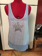 Free People We The Free Star Tank Top Light Blue Dress Size Large