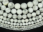 Natural White Turquoise Gemstone Faceted Round Beads 15'' 4mm 6mm 8mm 10mm 12mm