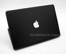 FOR MAC BOOK PRO 13.3 IN BLACK CARBON FIBER FULL BODY WRAP PROTECTOR DECAL SKIN