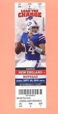 New England Patriots at Buffalo Bills 2012 ticket stub GEM MINT Tom Brady