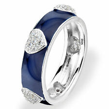 Bridal 925 Mark Sterling Silver Heart Ring Sz 7 Silver Plated Women Engagement
