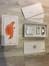 Rose Gold iPhone 6S Plus Retail Empty Box Full W New Accessories 16GB 64GB