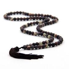 6mm Tibet Buddhist 108 Zipao Jade Prayer Beads Mala Necklace