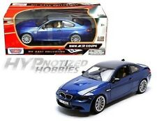 MOTORMAX 1:18 BMW M3 COUPE WITH CARBON FIBER ROOF  DIE-CAST BLUE  73182