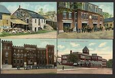 1909-1912 LOT/4*BROCKTON HEIGHTS MA*FIRE DEPT*ARMORY*HURLEY SHOE CO*BUTTON MILL