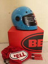 Bell Street Cafe Racer Retro Bullitt Full Face Motorcycle Helmet Blue SIZE XS