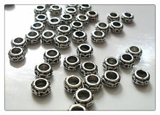 20 x Tibetan Silver Plated Beads - Rings - 6mm
