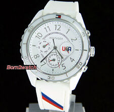 TOMMY HILFIGER  LADIES WATCH MULTIFUNCTION WHITE SILICONE 1781080