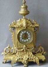 Pendule , Horloge Napoléon III En Bronze XIX ème