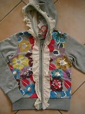 (241) Nolita Pocket Girls Kapuzen Sweatjacke mit Druck Pailletten Volants gr.116